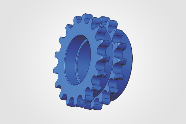 17 Teeth Duplex Sprocket (Cylinder Drive)