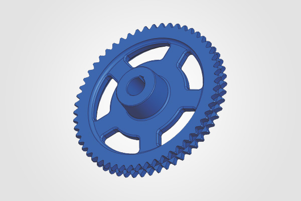 55 Teeth x 1 inch Pitch Duplex Sprocket (Cylinder Drive)