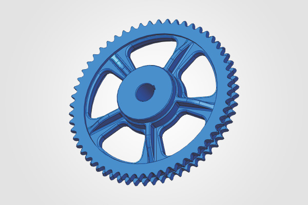 57 Teeth x 1 inch Pitch Duplex Sprocket (Cylinder Drive)