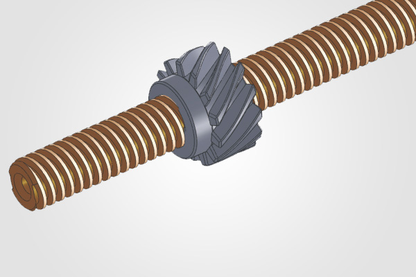 Brass Screw & Worm Wheel for Imersion Roll